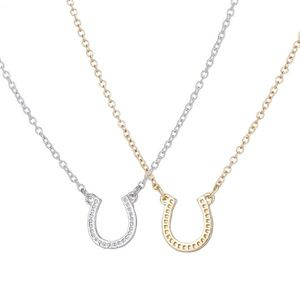 Jewelry - Delicate Horseshoe Necklace, Minimalistic Modern